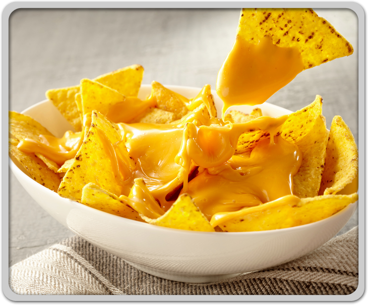 Chips of Cheese Covered Nachos