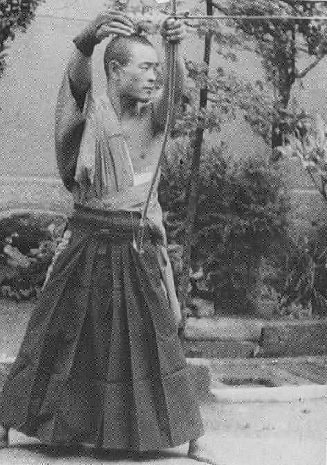 Nakamura sensei, 25 years old. Kyudo 4th dan.