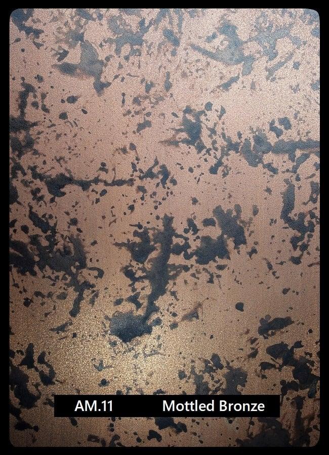 Metal finishes Mottled Bronze AM.11 Artistic Metals coatings