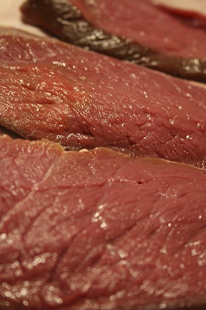 Fresh pork steaks
