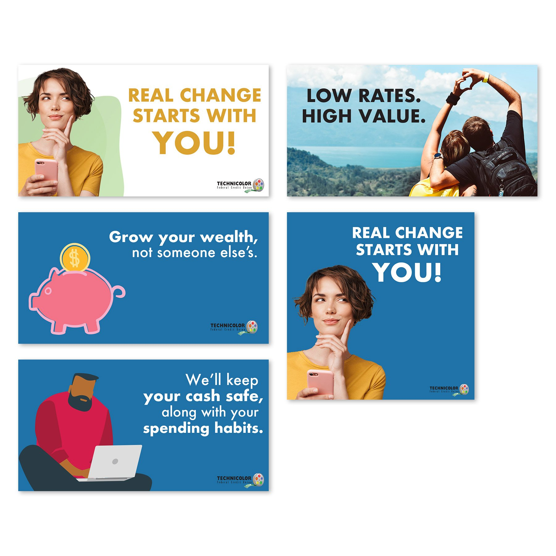 Technicolor Credit Union Social Media Ads