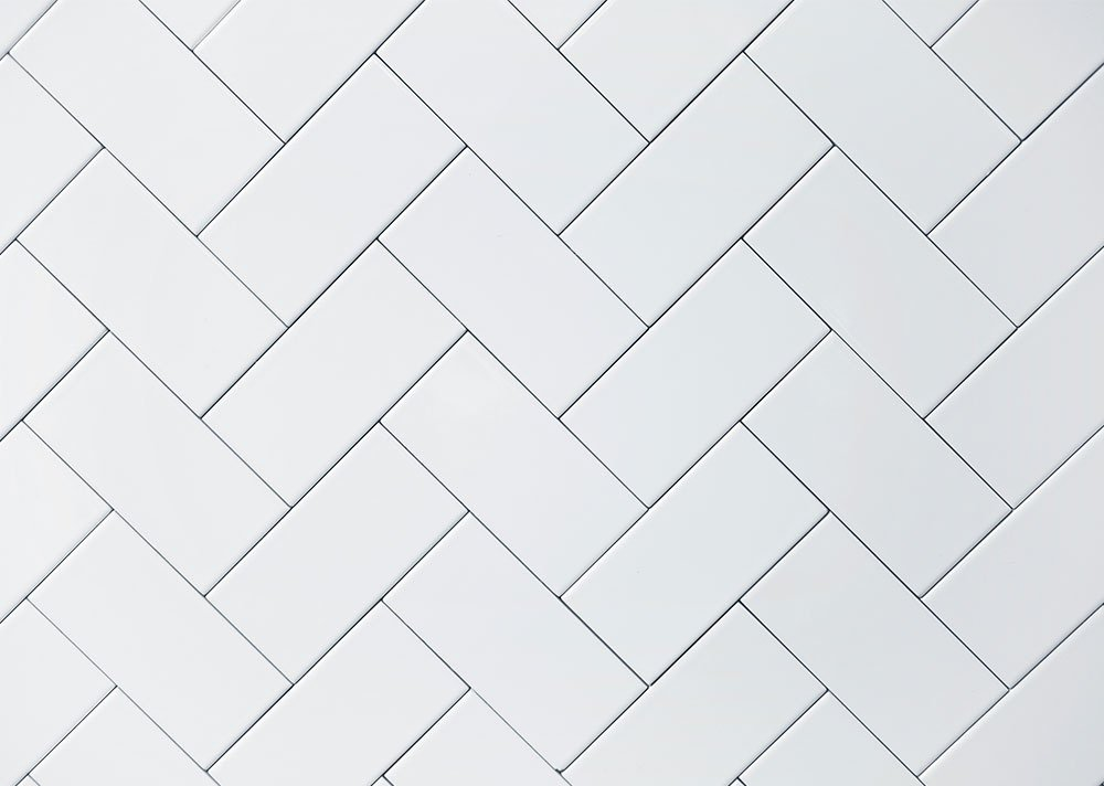 White Ceramic Brick Tile