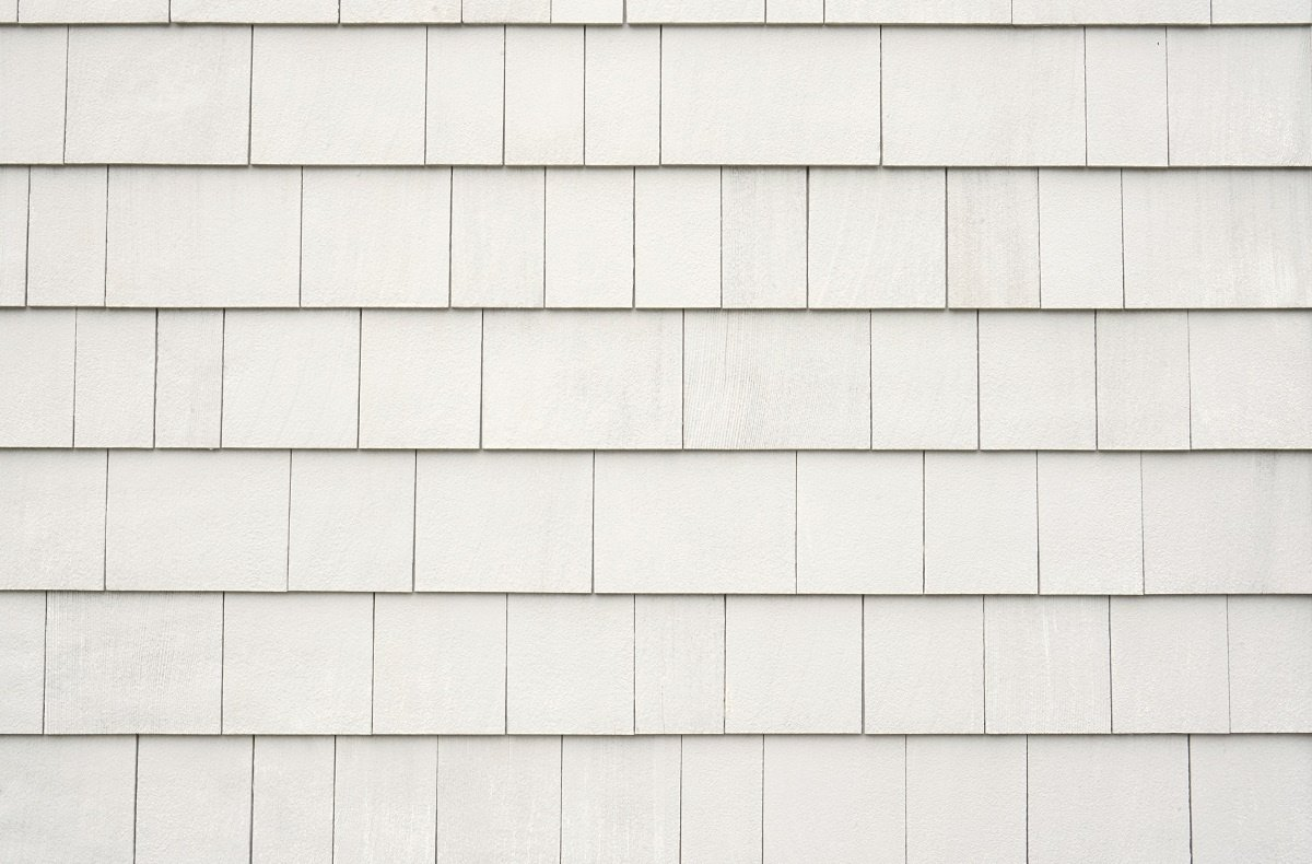 White roofing shingles