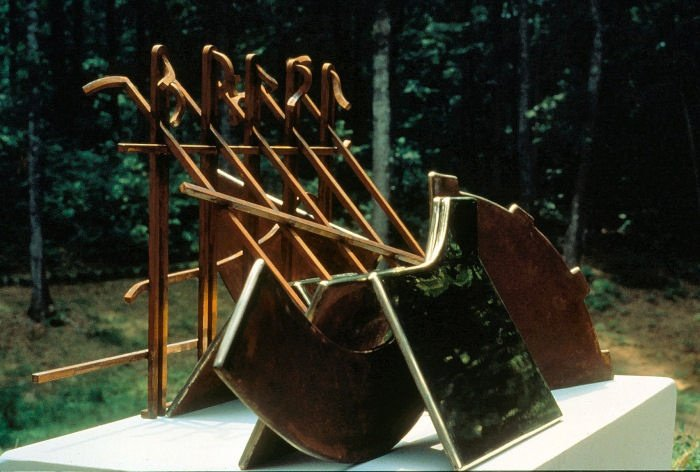 "Redemption Song - 1983, Fabricated Bronze and Steel Cladding   36"" x 40"" x 30"""