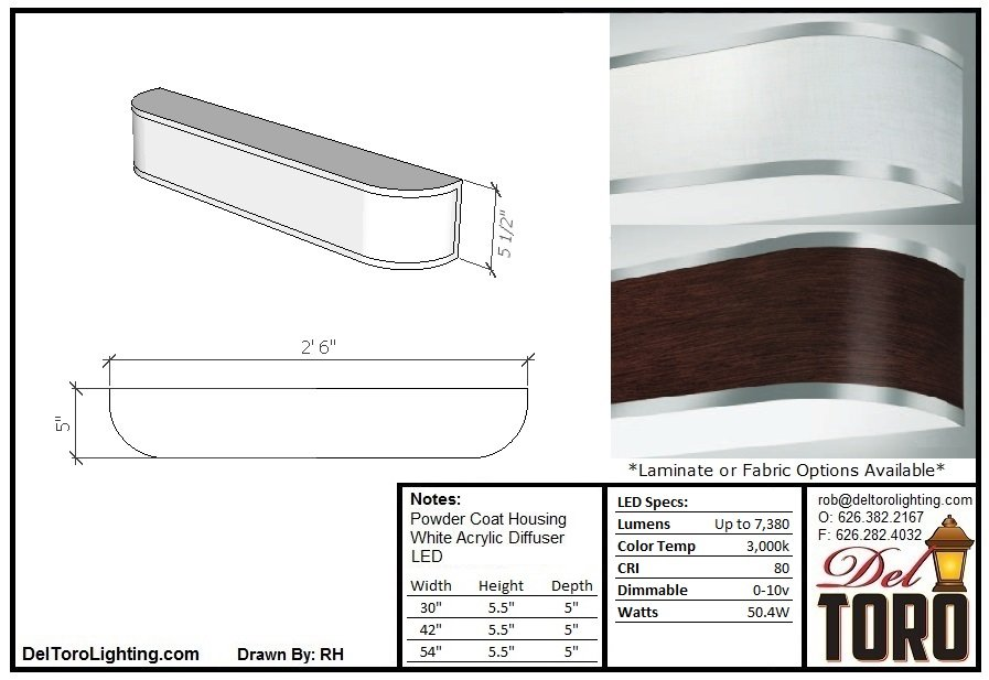 310W-Laminated Vanity Wall Sconce