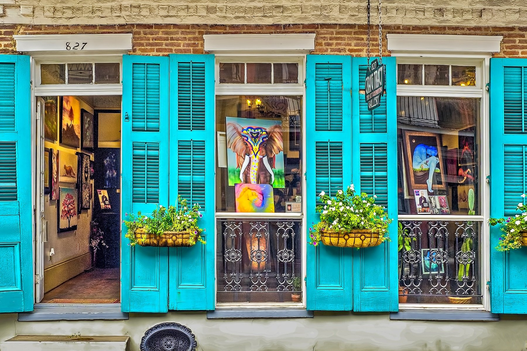 827 ROYAL STREET - Just one of the many interesting and fun store fronts in the French Quarter district of New Orleans. This happens to be the Craig Tracy Gallery.