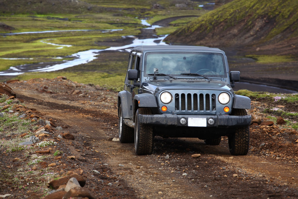 Jeep on Dirt Terrain