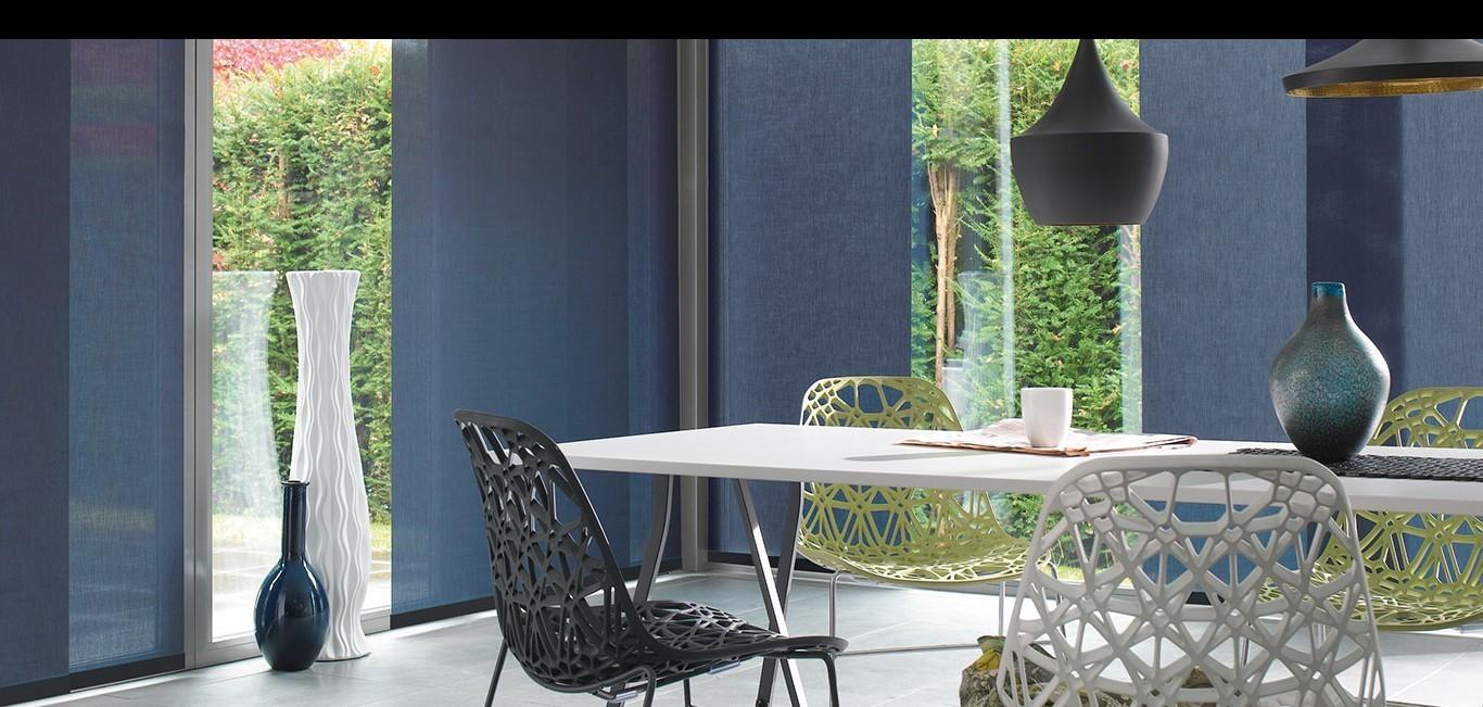 Amplia colección de telas que ofrecen  niveles de privacidad y proveen eficiencia en control solar