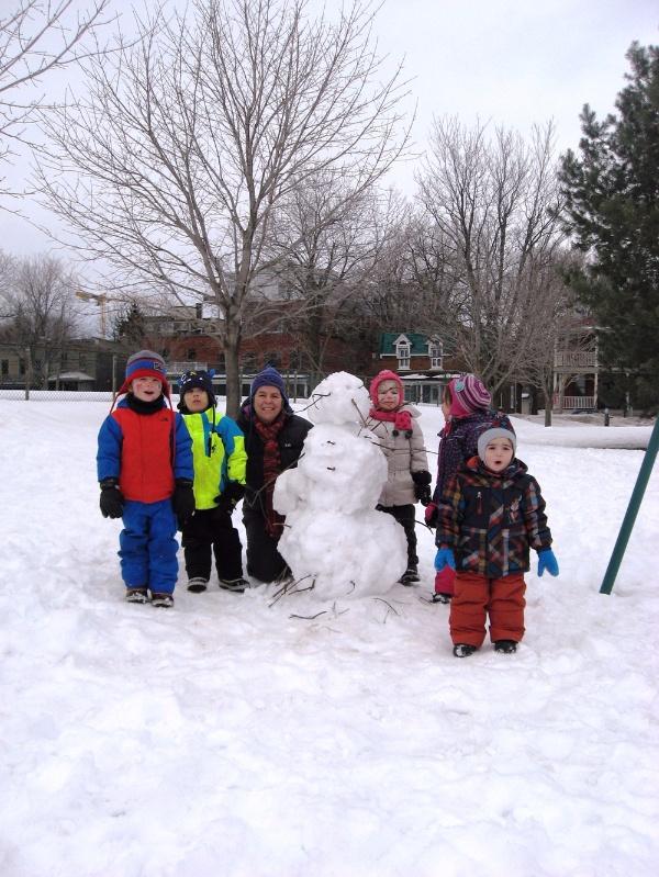 Souvenir d'un après-midi de jeux de neige dans le parc !
