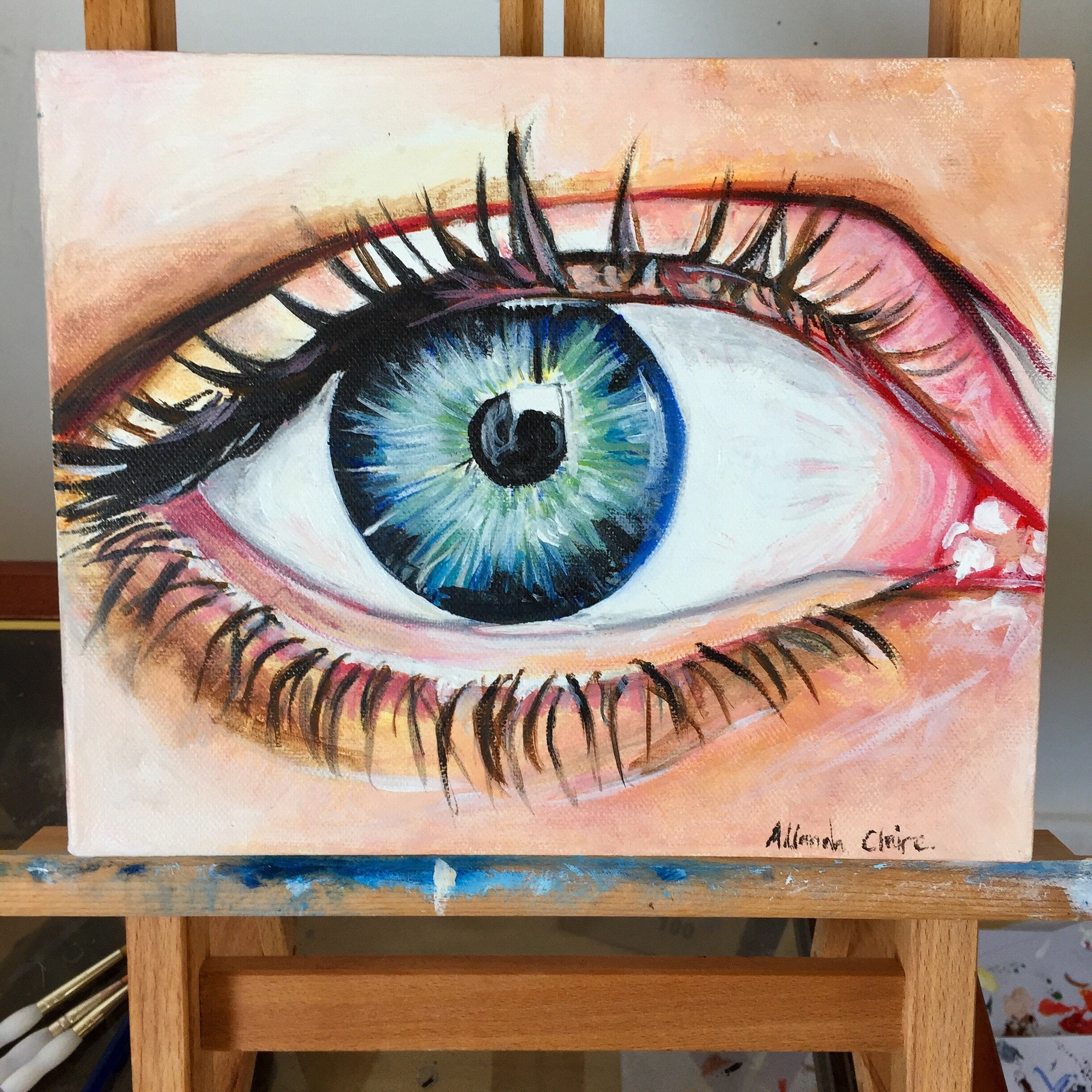 Eye, Acrylic on Canvas, 2013.