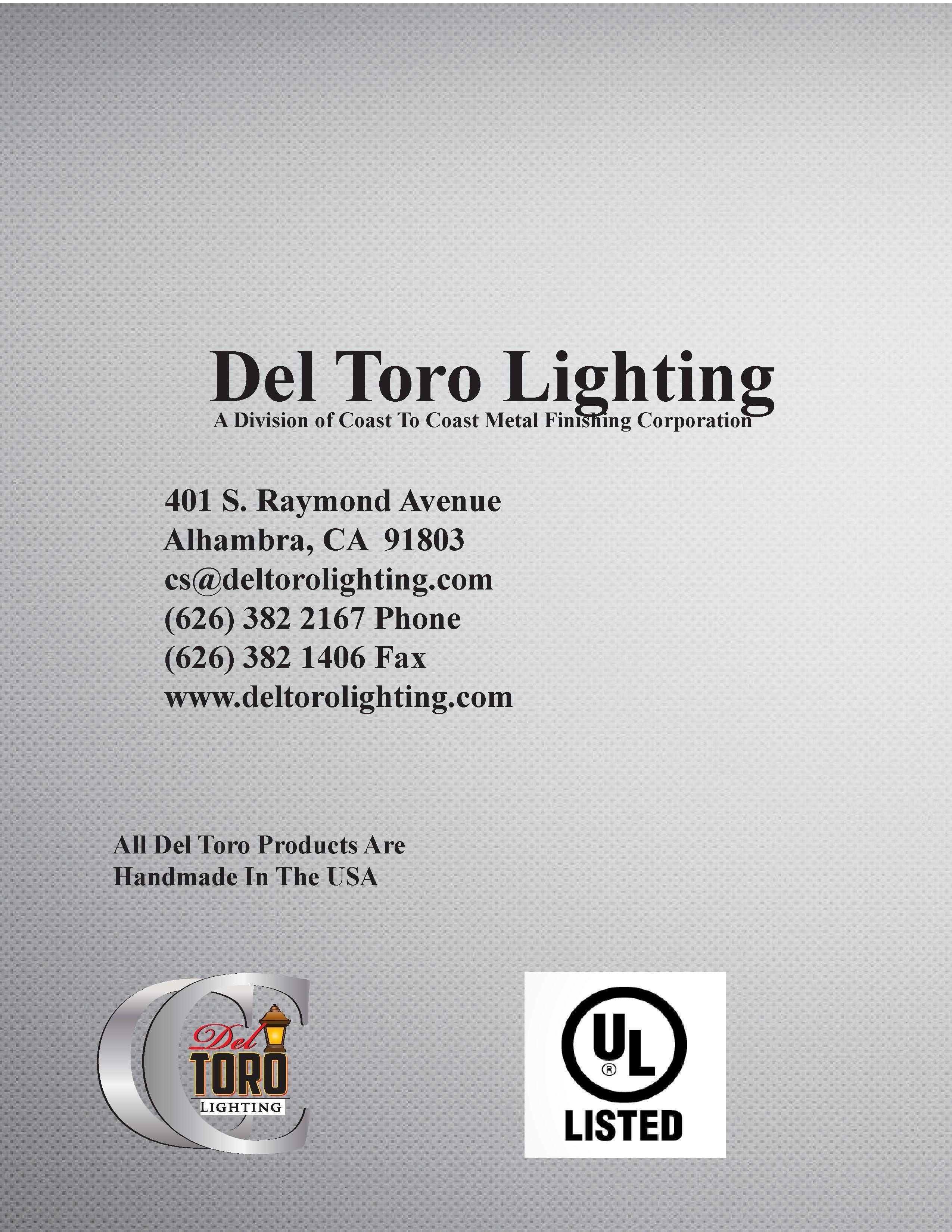 Del Toro Lighting - Classic Catalog