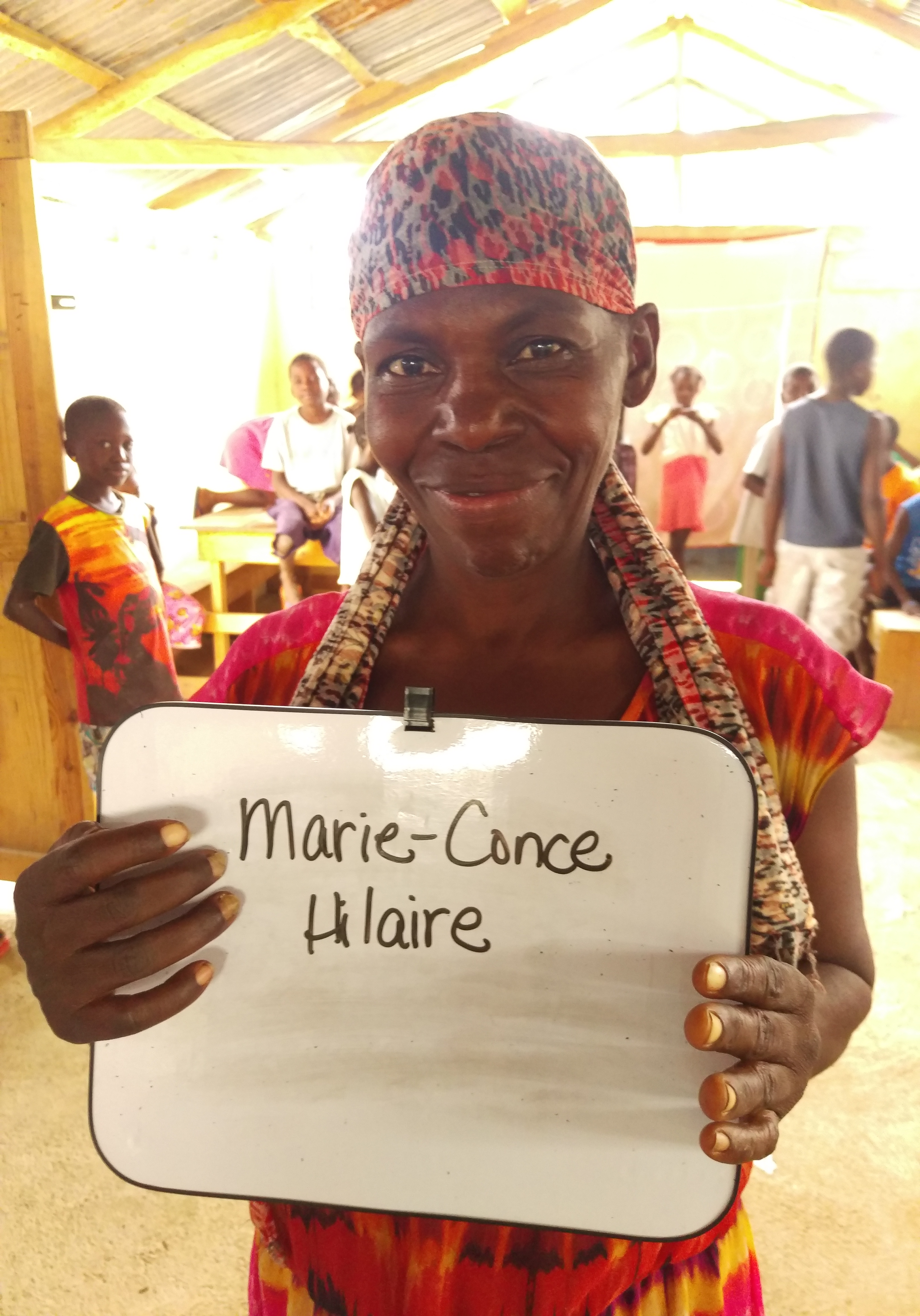 Mari Conse is the daughter of Brizali. She is mentally handicapped and not capable of carrying for herself or her mother. We are building a home down the road from the children's home because the IBESR (Haitian government office) told us we cannot have adults staying at the children's home. Sponsorship for her will go to provide food, laundry service, and any medical/dental help she needs.