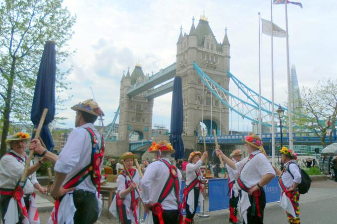 Dancing at Tower Bridge