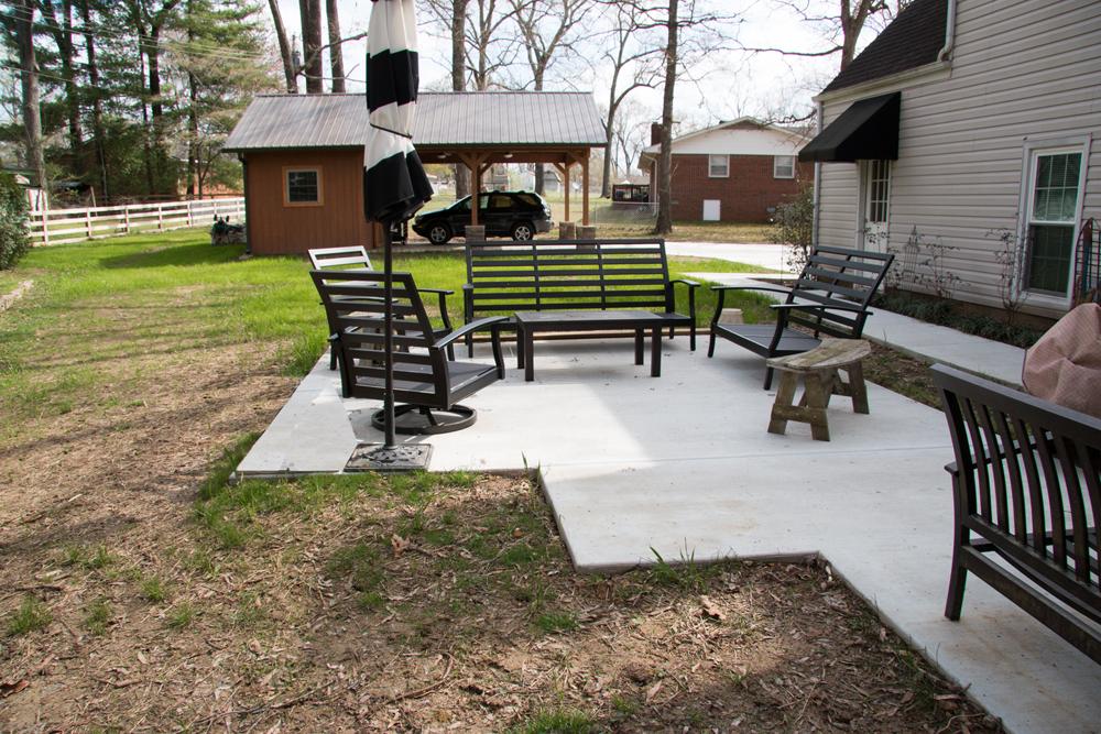 Current Backyard Sidewalk