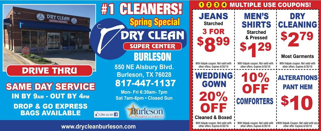 Dry Clean Super Center Coupon