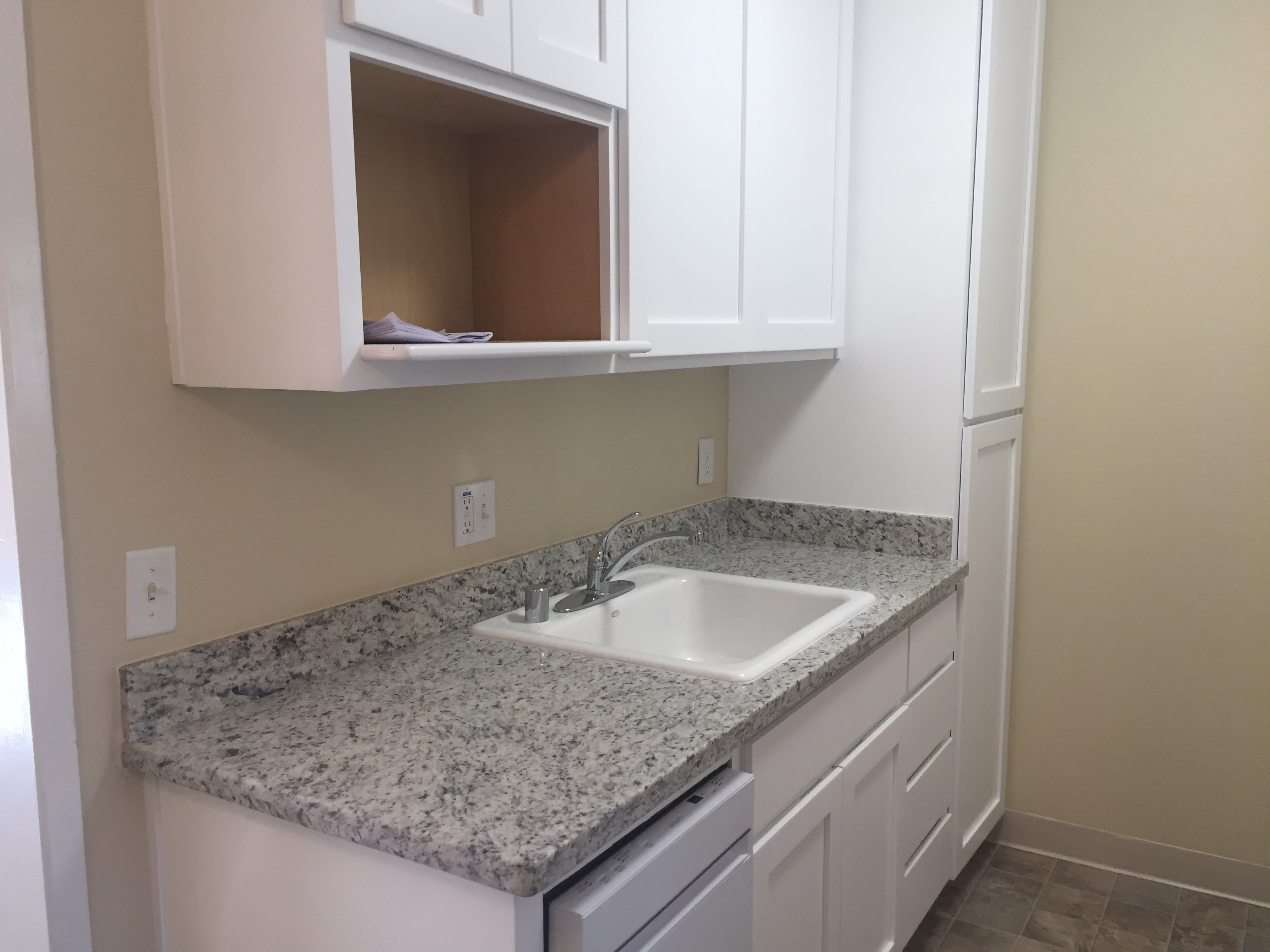 It will also have a new dishwasher and shelf for your microwave
