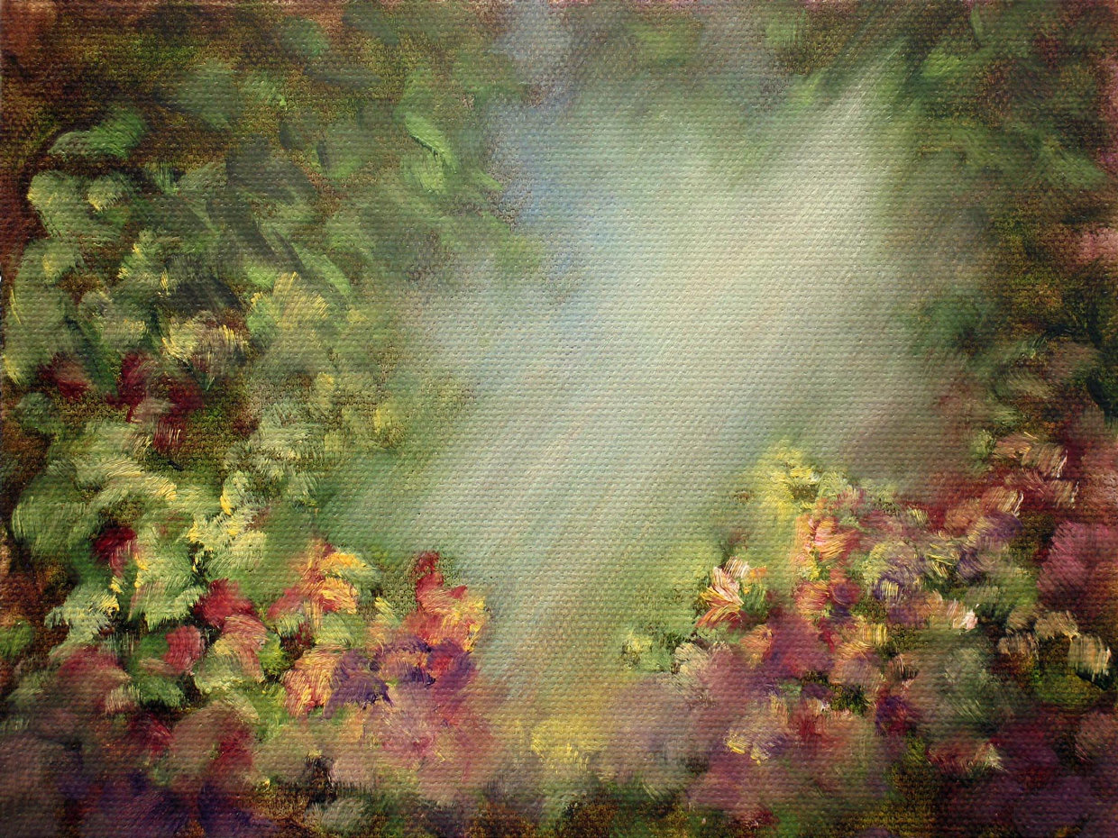 """A View Of Eden ~ 5"""" x 7"""" Oil on Canvas Panel    SOLD"""