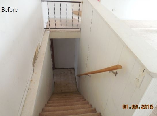Before Stair System Renovation