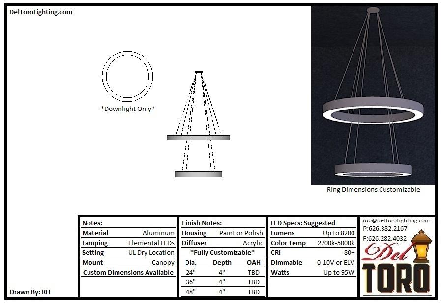 013P-Dual Ring Pendant