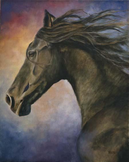 "Seer 16"" x 20"" oil on canvas"