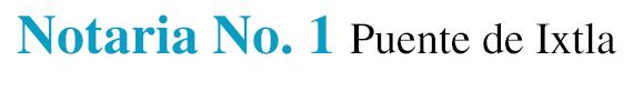 Notaría pública - Notaria No. 1 Puente de Ixtla