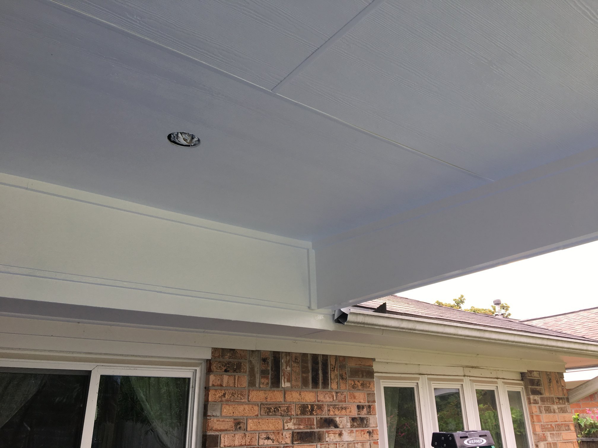 White Patio Ceiling