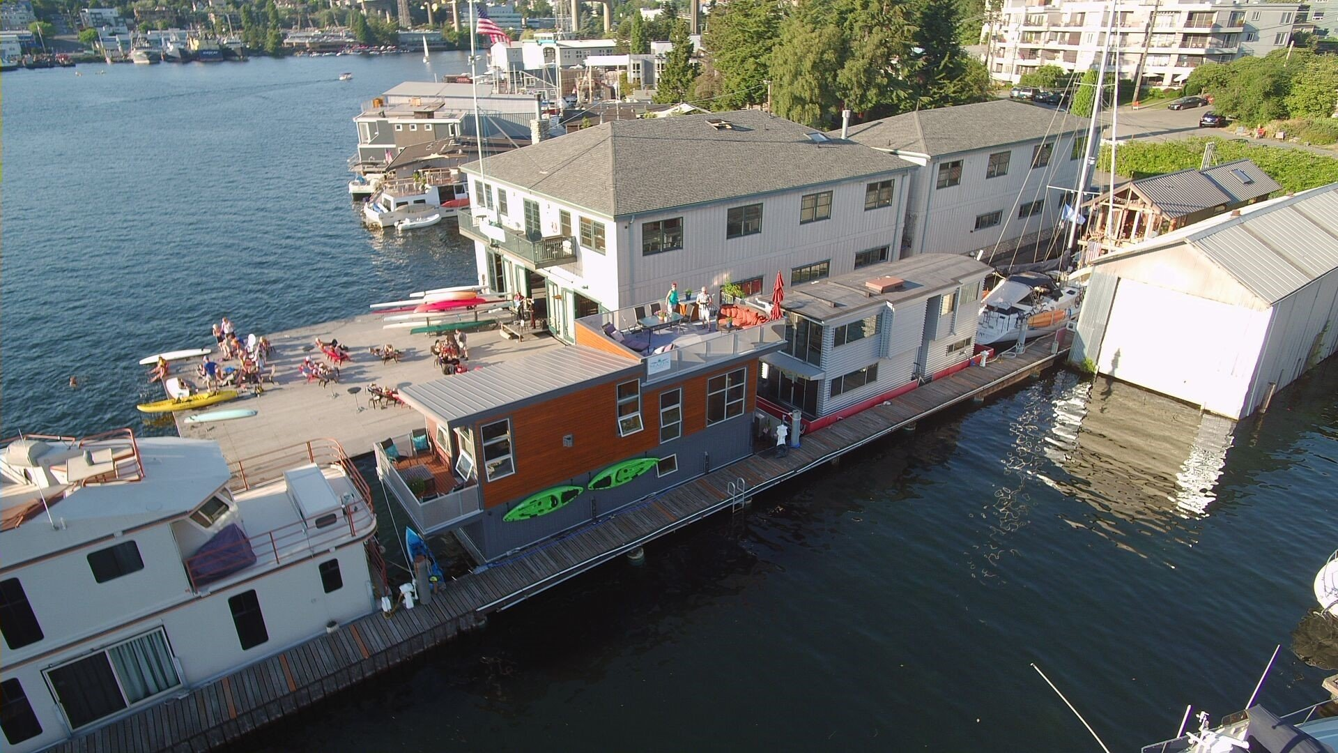 Aerial Shot of SeaZen Houseboat