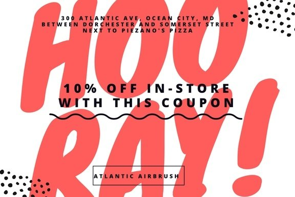 Atlantic Airbrush In-Store Coupon