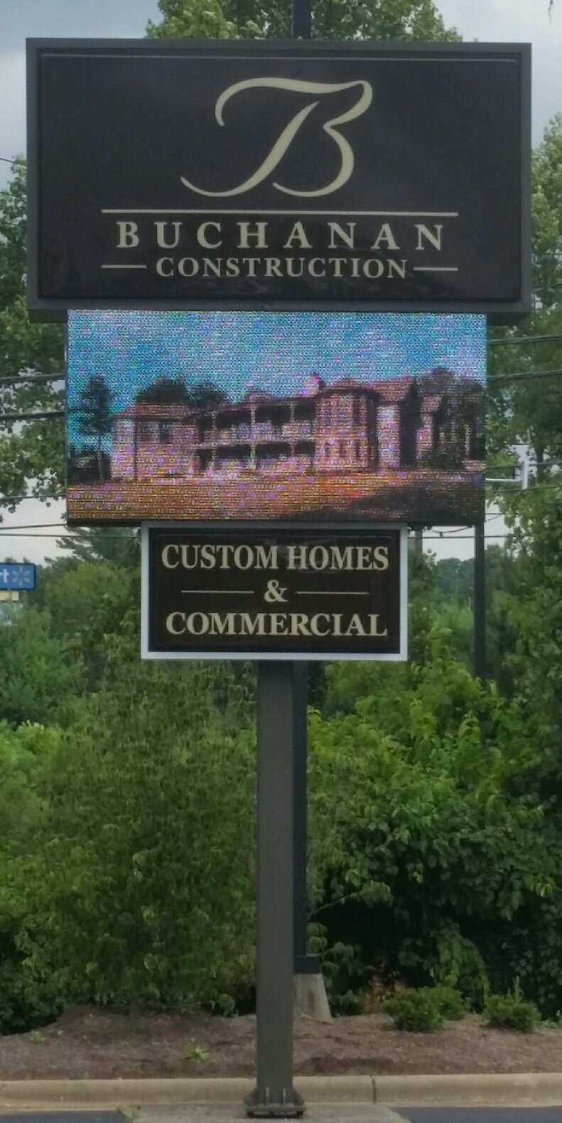 Buchanan Construction, Asheville, NC, Full color LED, 16mm, 4x8