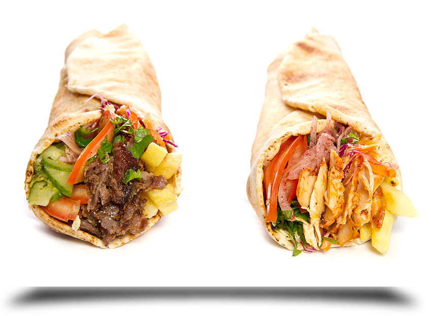 Chicken and lamb wraps||||
