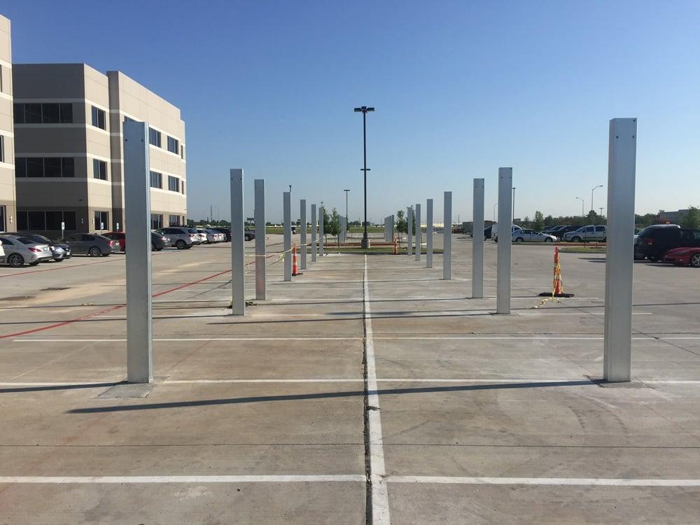 Mid Span Carport Installation