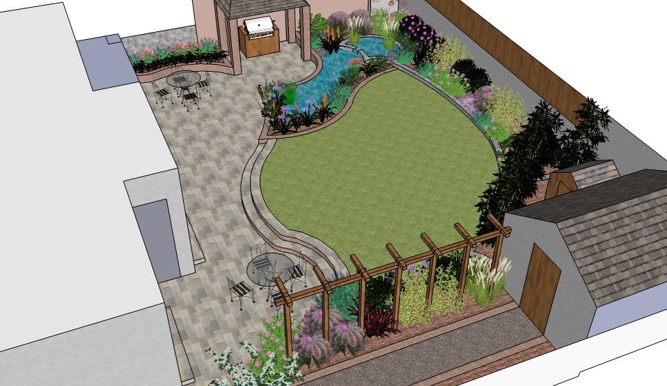 Willow Garden Design Garden Design Planning A New Garden