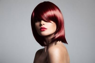Beautiful Red Hair Model With Perfect Glossy Hair