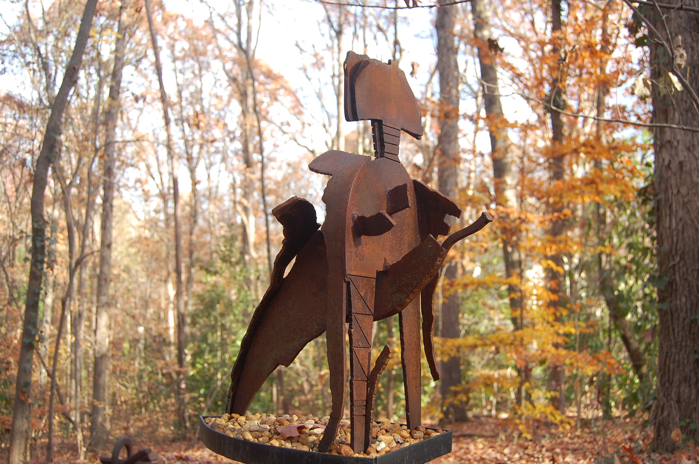 "Shungo's Disciple 1 - 1979, Fabricated Mild Steel, 7"" x 10"" x 14"""