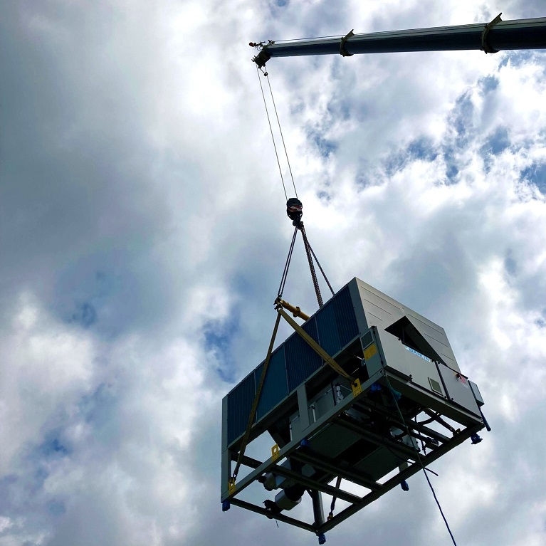 We get very excited about crane lifts!
