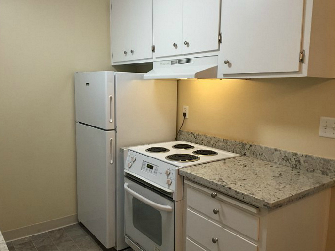 The kitchen will look like this apartment.