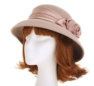 Mannequin Head with Wig and Hat