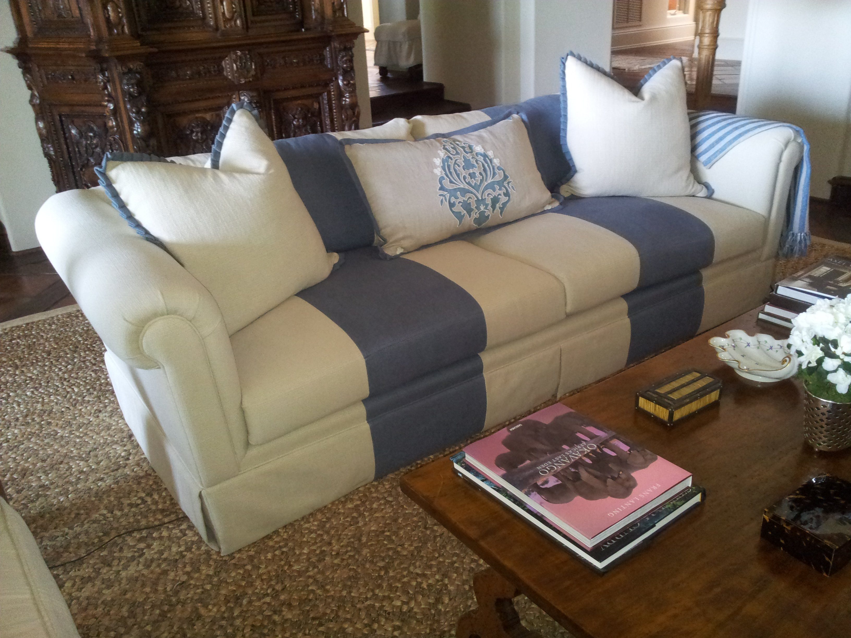 "Custom sofa Designed by Home Interiors Custom Upholstery ""Jose Aguila"""