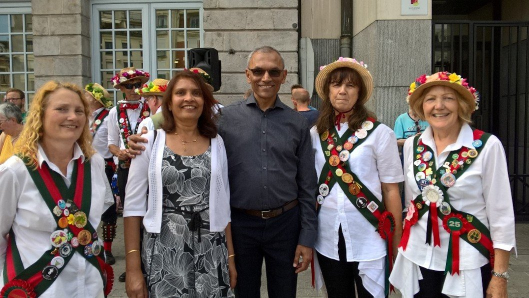 Douai France - Merrydowners with the Mayor of Harrow  and his wife