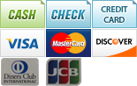 We accept Cash, Check, Credit Card, Visa, MasterCard, Discover, Diners Club and JCB.||||