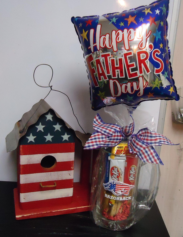 "(1) ""Razorback"" Mug Filled W/Candy Birdhouse & Balloon $60.00"