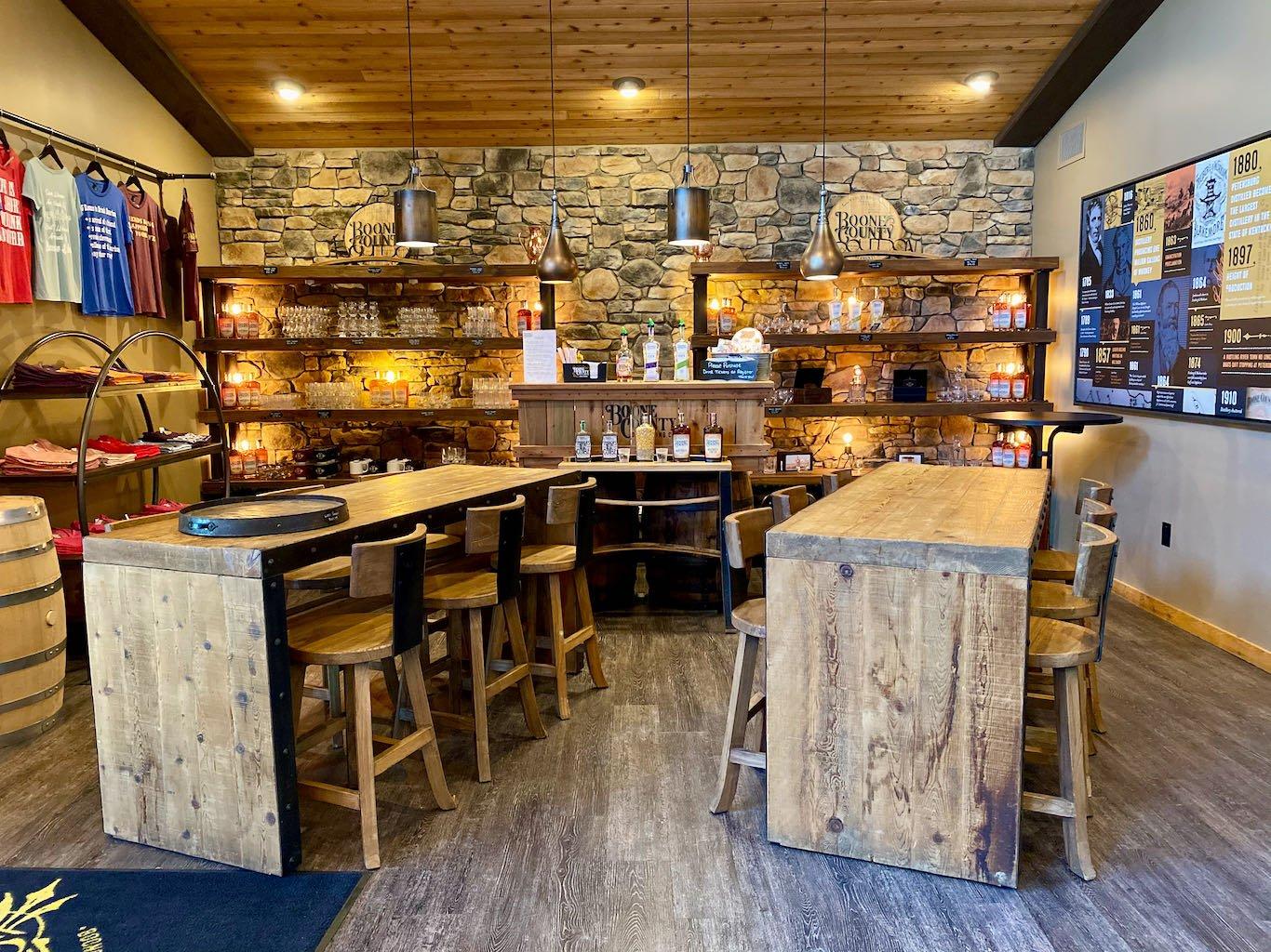 Tasting Area -Boone County Distilling Company