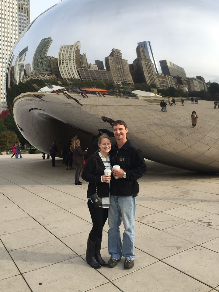 """Dr. Parham and Cory at """"The Bean"""" in Chicago. October 2016"""