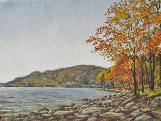 81. SOLD Deep Creek Lake, 9x12 oil on canvas