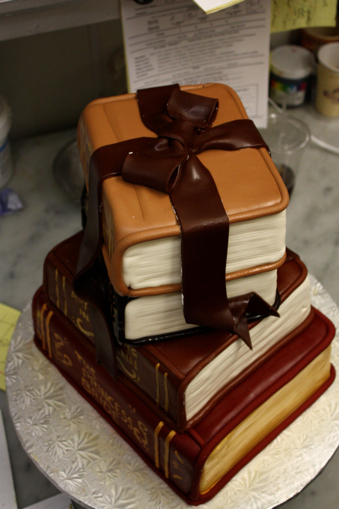 3D Book Cake Top View
