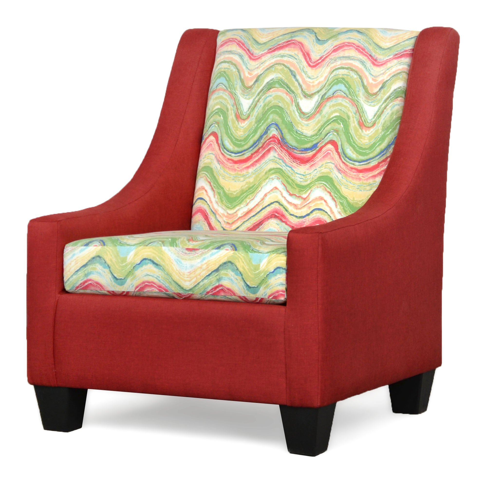 390 Luna Red Accent Chair