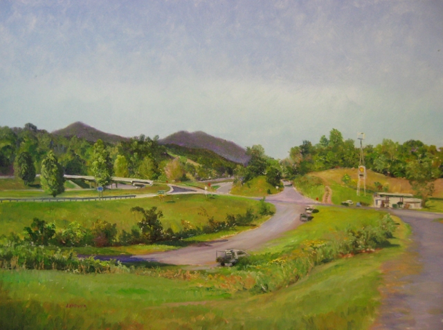 56. I-81 at Exit 168, View from the Cafe, 18x24 op