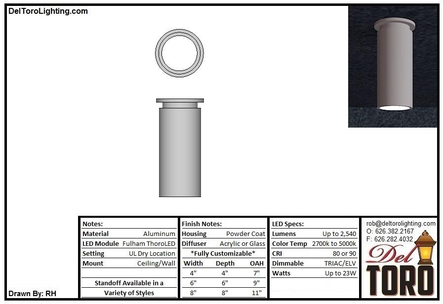505C-Cylinder Flush Mount