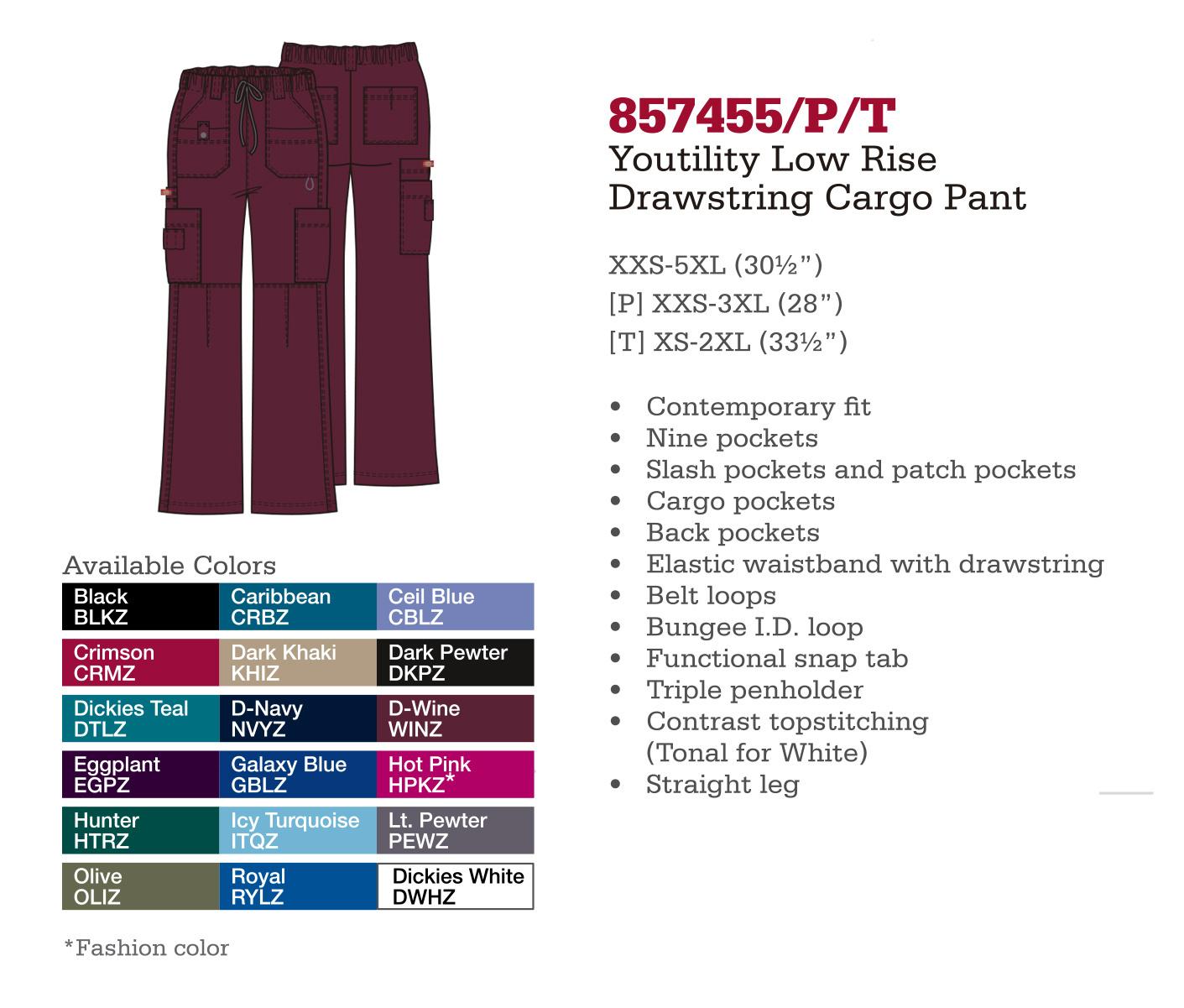 Pantalón Cargo con Cordones Youtility. 857455/P/T.