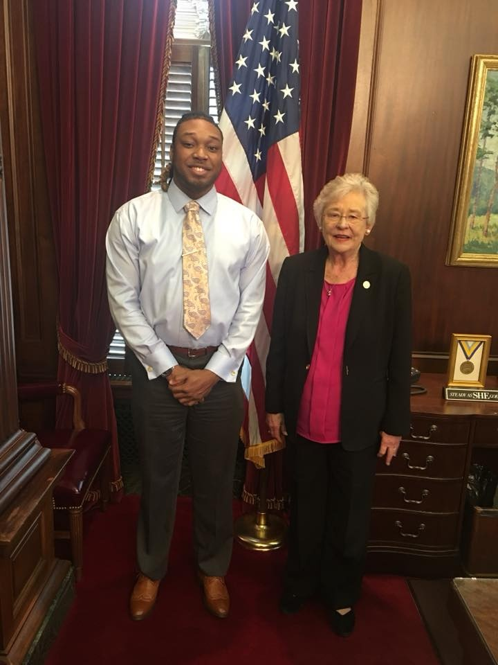 Al Morton III with Governor Kay Ivey